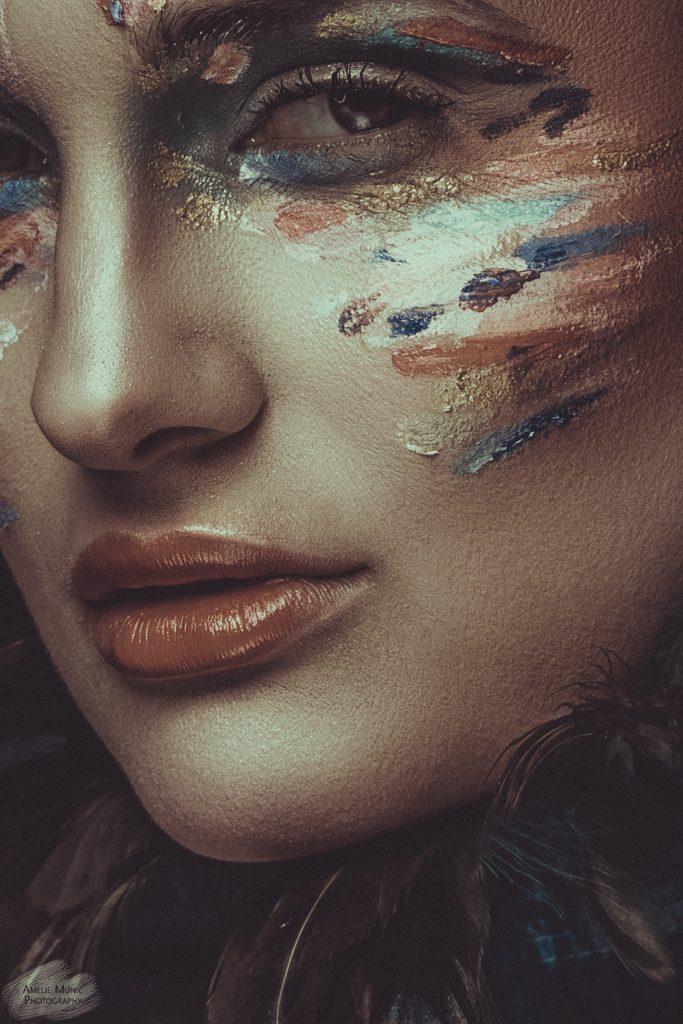 Closeup-einer-Frau