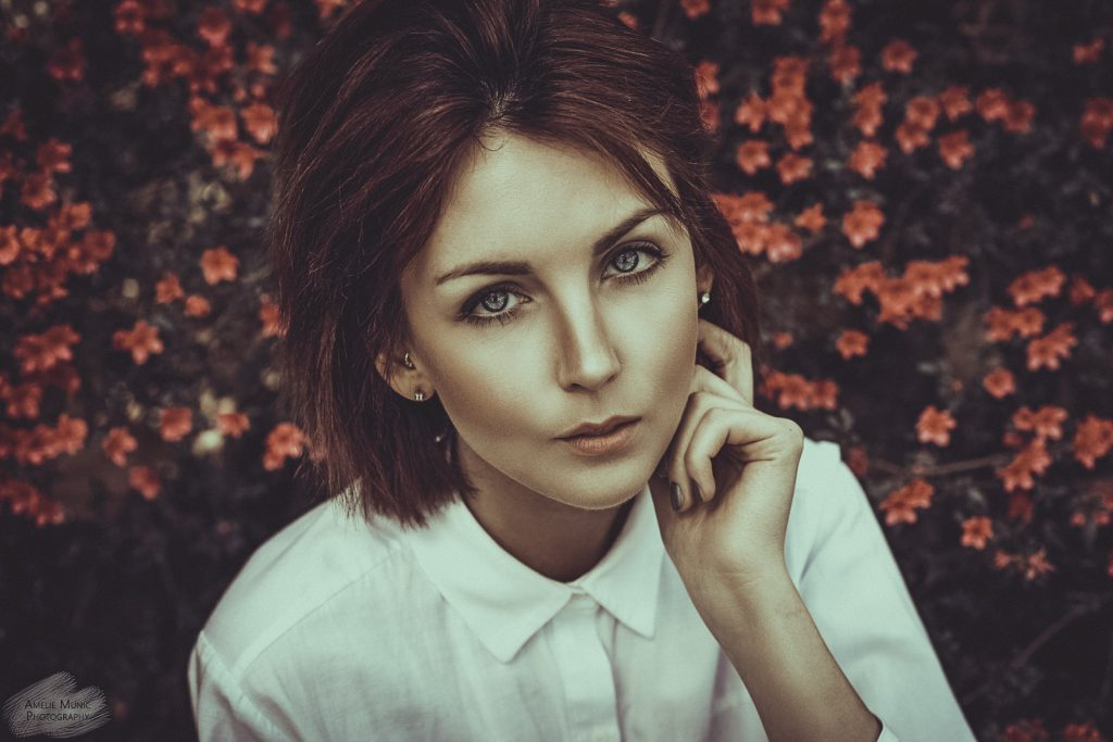 Portrait-einer-Frau